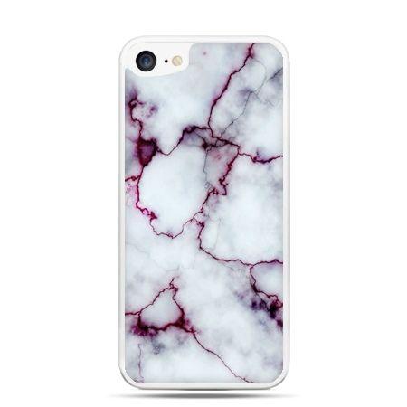 Etui na telefon iPhone 7 - różowy marmur