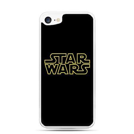 Etui na telefon iPhone 7 - Star Wars złoty napis