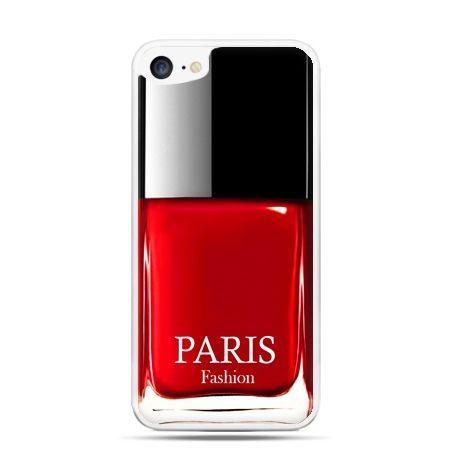 Etui na telefon iPhone 7 - lakier do paznokci czerwony