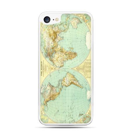 Etui na telefon iPhone 7 - mapa świata