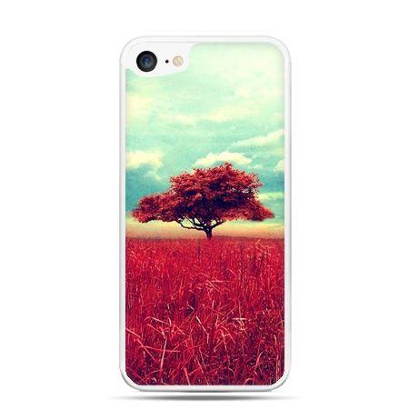 Etui na telefon iPhone 7 - czerwone drzewo