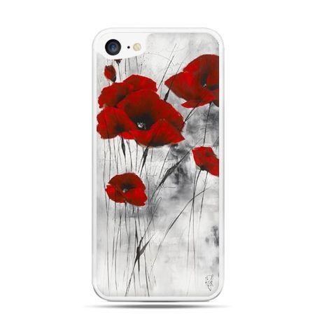 Etui na telefon iPhone 7 - czerwone maki