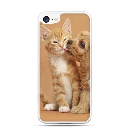 Etui na telefon iPhone 7 - jak pies i kot