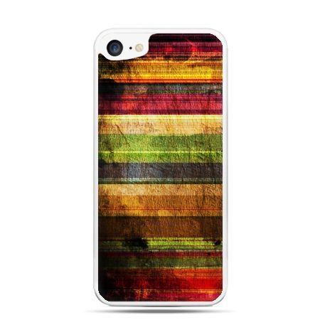 Etui na telefon iPhone 7 - kolorowe deski