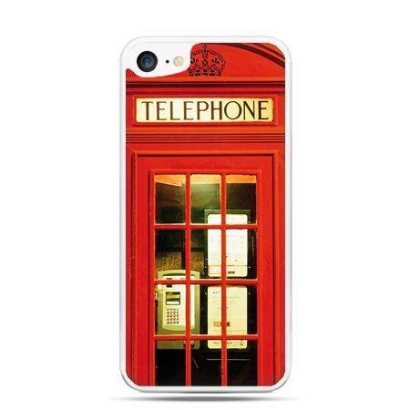 Etui na telefon iPhone 7 - czerwona budka telefoniczna