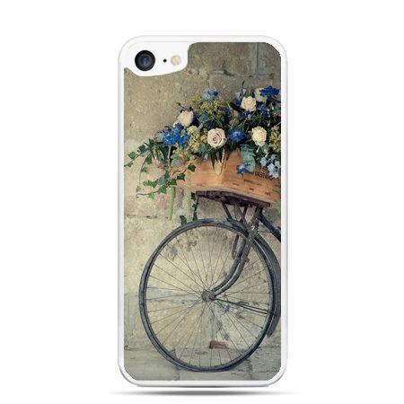 Etui na telefon iPhone 7 - rower z kwiatami