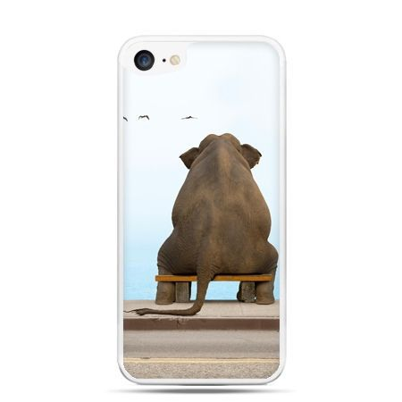 Etui na telefon iPhone 7 - zamyślony słoń