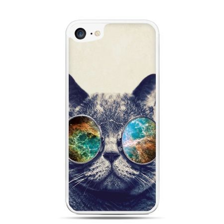 Etui na telefon iPhone 7 - kot w tęczowych okularach