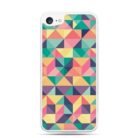 Etui na telefon iPhone 7 - kolorowe trójkąty