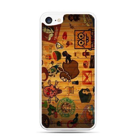 Etui na telefon iPhone 7 - kreskówki logo Apple