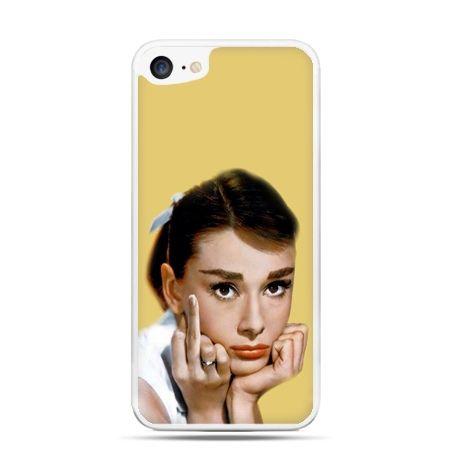 Etui na telefon iPhone 7 - Audrey Hepburn Fuck You