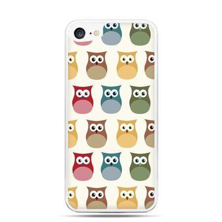 Etui na telefon iPhone 7 - kolorowe sowy
