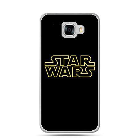 Etui na telefon Samsung Galaxy C7 - Star Wars złoty napis