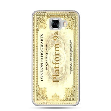 Etui na telefon Samsung Galaxy C7 - bilet platform 9 3/4 Harry Potter