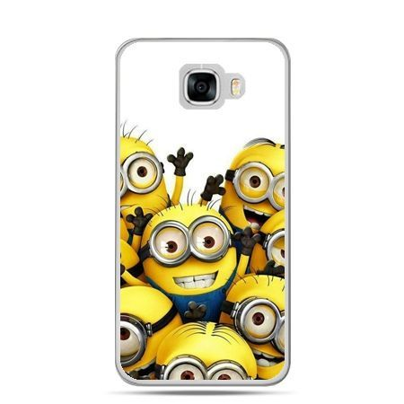 Etui na telefon Samsung Galaxy C7 - Minionki