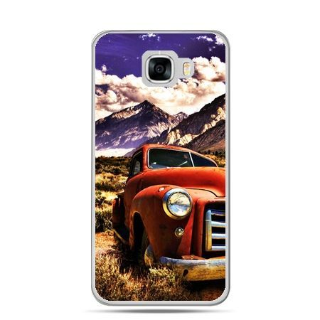 Etui na telefon Samsung Galaxy C7 - retro pick-up