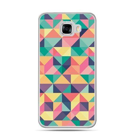 Etui na telefon Samsung Galaxy C7 - kolorowe trójkąty