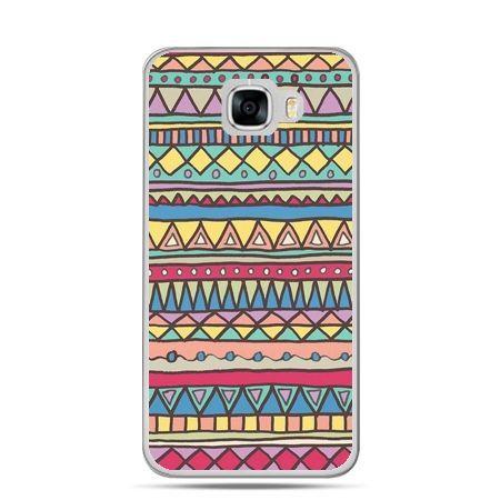 Etui na telefon Samsung Galaxy C7 - Azteckie wzory