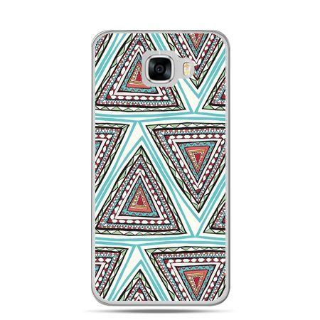 Etui na telefon Samsung Galaxy C7 - Azteckie trójkąty