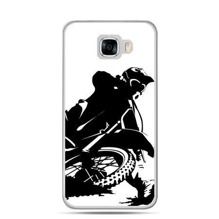 Etui na telefon Samsung Galaxy C7 - motocykl cross