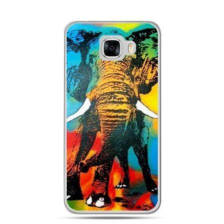 Etui na telefon Samsung Galaxy C7 - kolorowy słoń