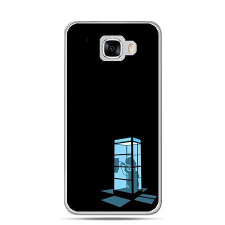 Etui na telefon Samsung Galaxy C7 - nocna budka telefoniczna