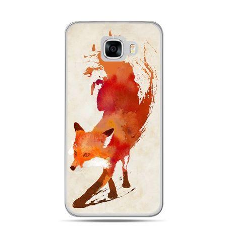 Etui na telefon Samsung Galaxy C7 - lis watercolor