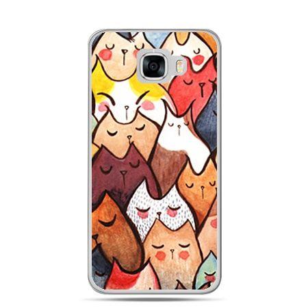 Etui na telefon Samsung Galaxy C7 - koty
