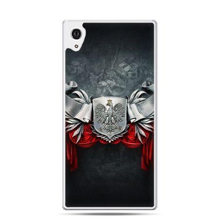 Etui na telefon Xperia XA patriotyczne - stalowe godło
