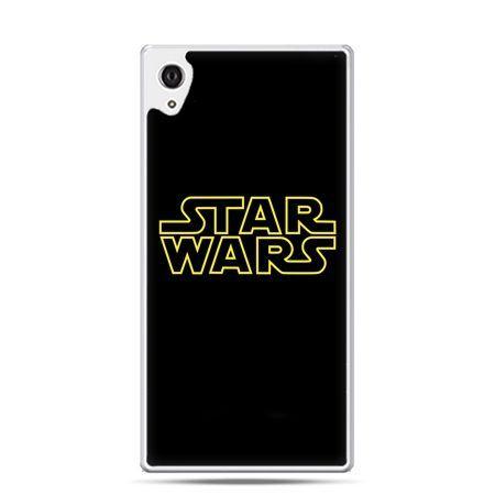 Etui na telefon Sony Xperia XA - Star Wars złoty napis