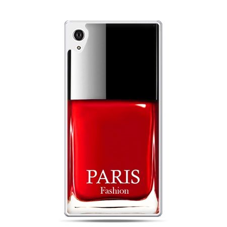 Etui na telefon Sony Xperia XA - lakier do paznokci czerwony