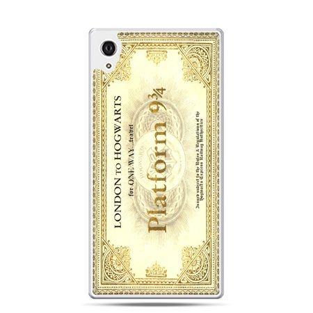 Etui na telefon Sony Xperia XA - bilet platform 9 3/4 Harry Potter