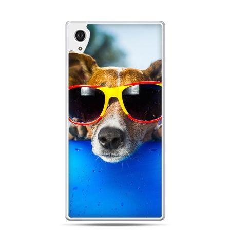 Etui na telefon Sony Xperia XA - pies w kolorowych okularach