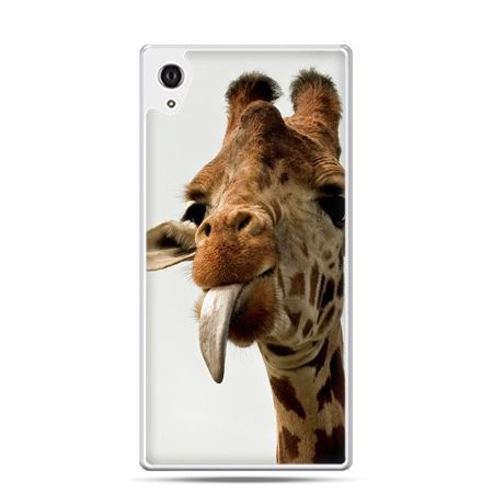 Etui na telefon Sony Xperia XA - żyrafa z językiem