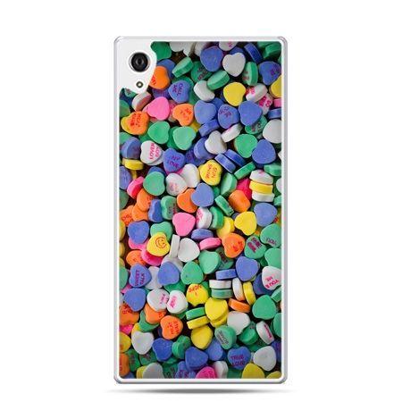 Etui na telefon Sony Xperia XA - slodkie serduszka
