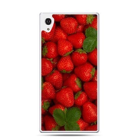 Etui na telefon Sony Xperia XA - czerwone truskawki