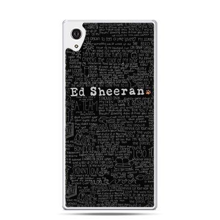 Etui na telefon Sony Xperia XA - ED Sheeran czarne poziome