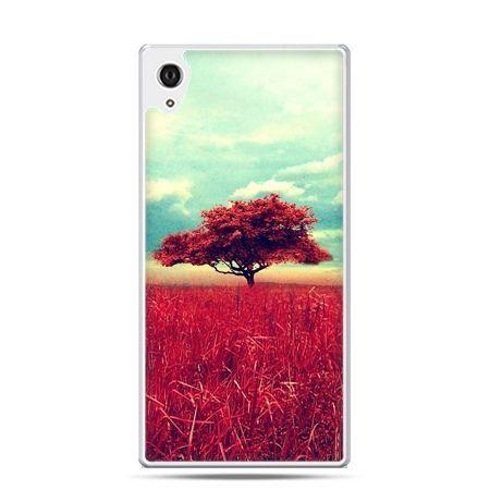 Etui na telefon Sony Xperia XA - czerwone drzewo
