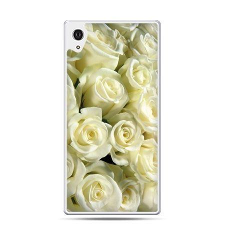 Etui na telefon Sony Xperia XA - białe róże