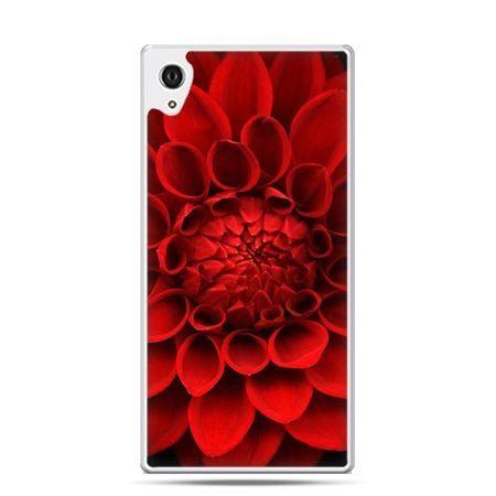 Etui na telefon Sony Xperia XA - czerwona dalia
