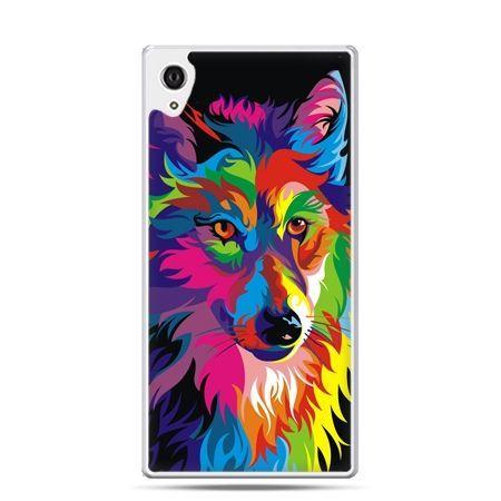 Etui na telefon Sony Xperia XA - neonowy wilk