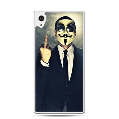 Etui na telefon Sony Xperia XA - Anonimus Fuck You
