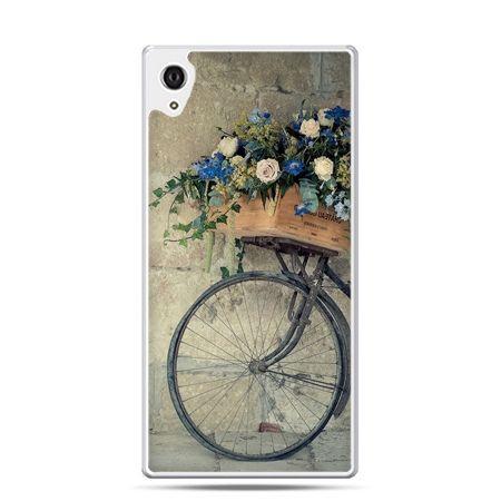 Etui na telefon Sony Xperia XA - rower z kwiatami