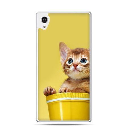 Etui na telefon Sony Xperia XA - kot w doniczce
