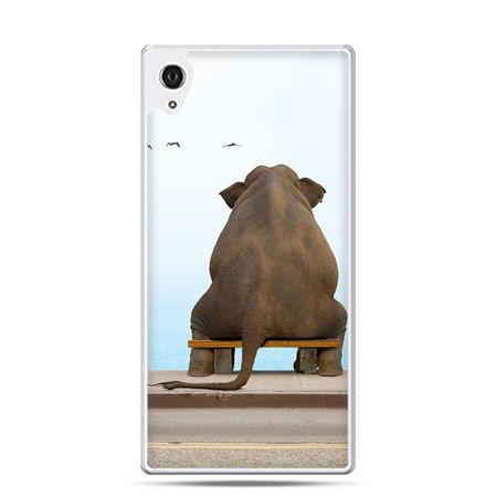Etui na telefon Sony Xperia XA - zamyślony słoń