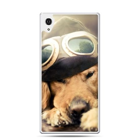 Etui na telefon Sony Xperia XA - pies w okularach
