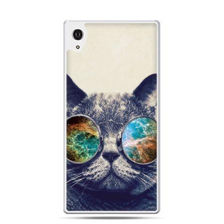 Etui na telefon Sony Xperia XA - kot w tęczowych okularach