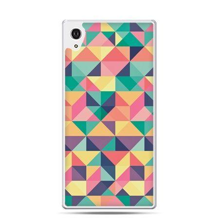 Etui na telefon Sony Xperia XA - kolorowe trójkąty