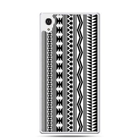 Etui na telefon Sony Xperia XA - czarno biały wzorek