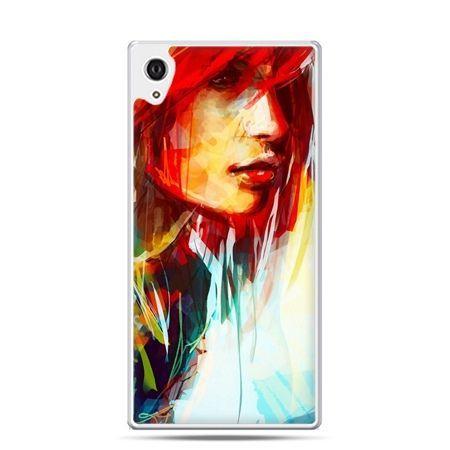 Etui na telefon Sony Xperia XA - kobieta akwarela